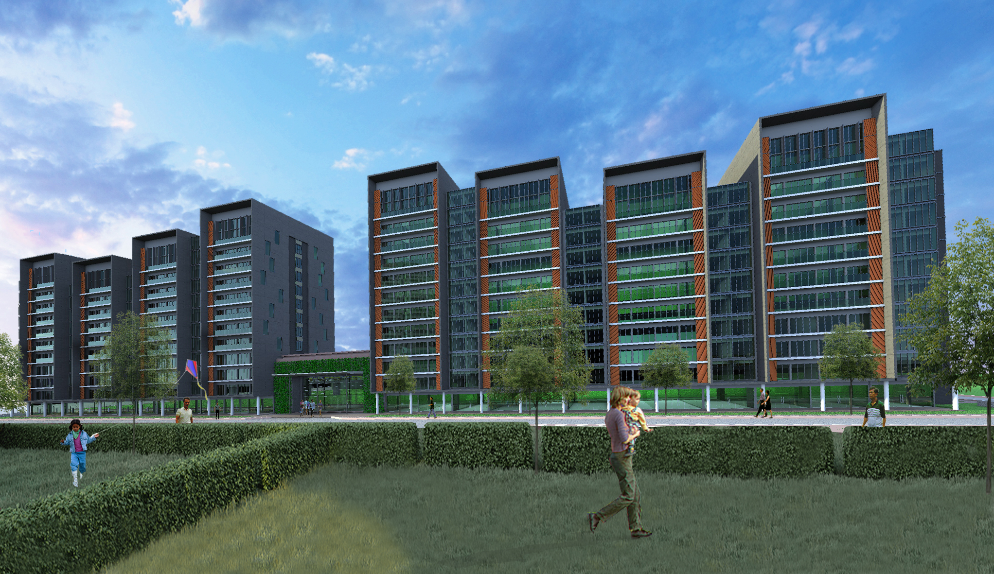 Mixed Development Comprising Retails, Offices & High-Rise Apartments
